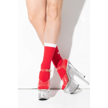 RAD WEAR POLE DANCER SOCKS rosse consegna subito