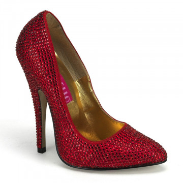 Bordello SCANDAL-620R Red Rhinestones