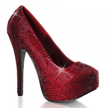Bordello TEEZE-06R Ruby Red Satin RS
