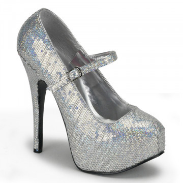 Bordello TEEZE-07H Slv Hologram Sequins