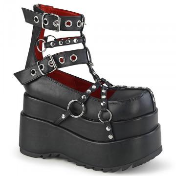 Demonia BEAR-28 Blk Vegan Leather