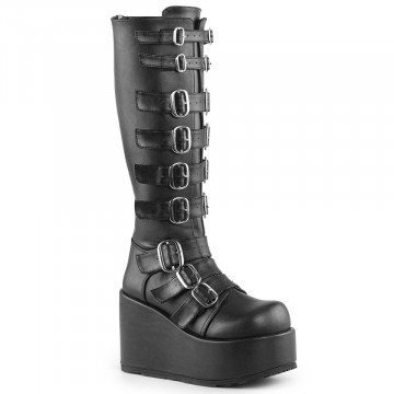 Demonia CONCORD-108 Blk Vegan Leather