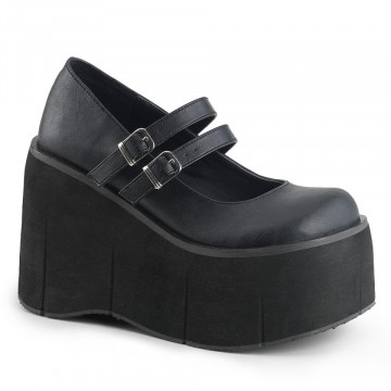 Demonia KERA-08 Blk Vegan Leather