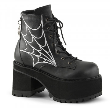 Demonia RANGER-105 Blk Vegan Leather