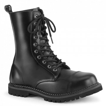 Demonia RIOT-10 Blk Leather