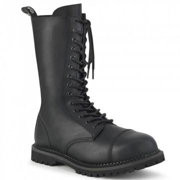 Demonia RIOT-14 Blk Vegan Leather
