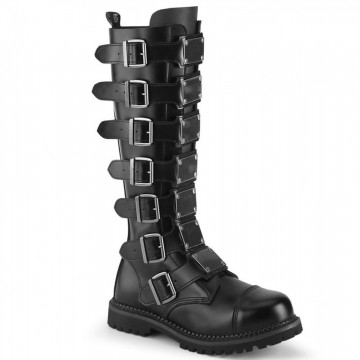 Demonia RIOT-21MP Blk Leather