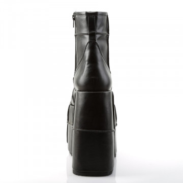 Demonia STACK-201 Blk Vegan Leather