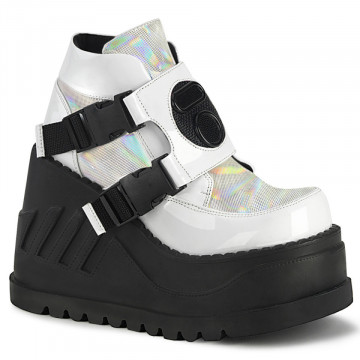 Demonia STOMP-15 Wht Patent-Multi