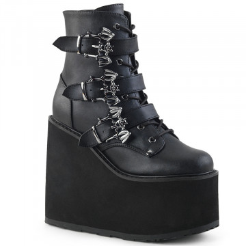 Demonia SWING-103 Blk Vegan Leather
