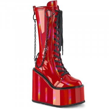 Demonia SWING-150 Red Holographic Stretch Pat
