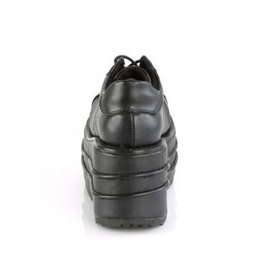 Demonia TEMPO-08 Blk Vegan Leather
