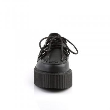 Demonia V-CREEPER-538 Blk Vegan Leather-Suede