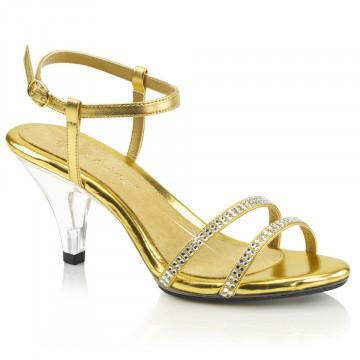 Fabulicious BELLE-316 Gold Met Pu/Clr