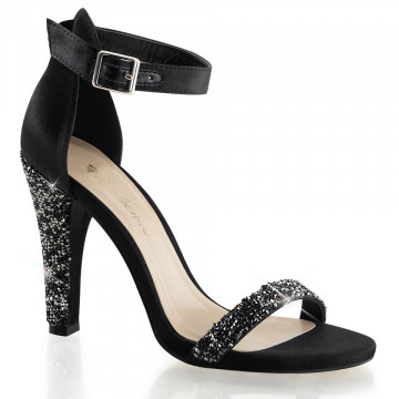 Fabulicious CLEARLY-436 Blk Satin