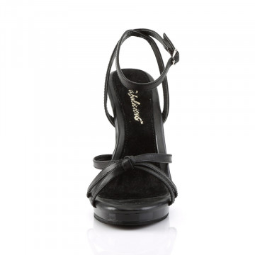 Fabulicious FLAIR-436 Blk Leather/Blk