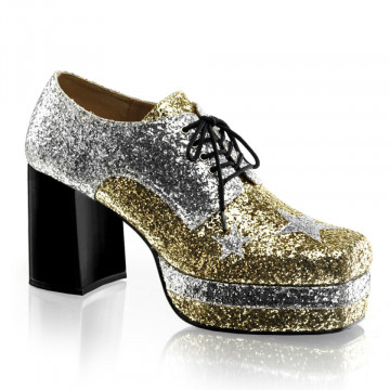 Funtasma GLAMROCK-02 Slv-Gold Glitter