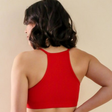 Mademoiselle spin Top GABY ROUGE PASSION