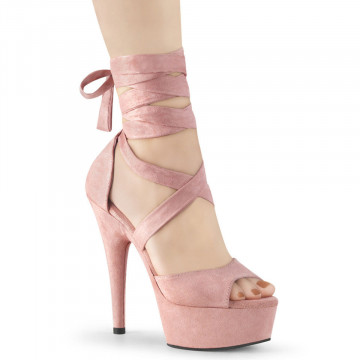 Pleaser DELIGHT-679 B. Pink Faux Suede/B. Pink Faux Suede