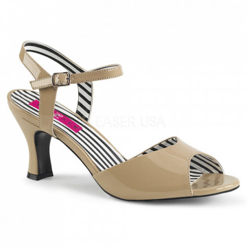 Pleaser Pink Label JENNA-09 Cream Pat