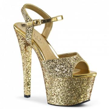 Pleaser SKY-310LG Gold Glitter/Gold Glitter
