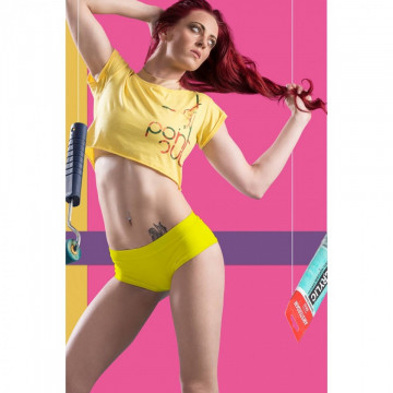 POINT OUT POLE WEAR - LIME SHORT M spedizione subito h24