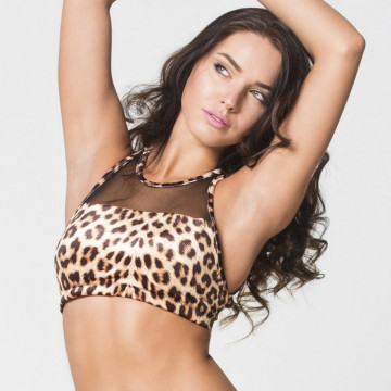 RAD POLE - CINDY LEOPARD TOP subito L