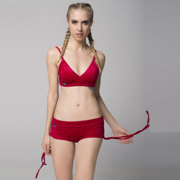 RAD POLE - SIDE STRING SHORT RED Velluto subito
