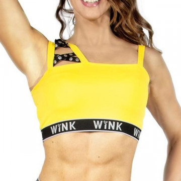 Wink Mystique Crop Top Yellow