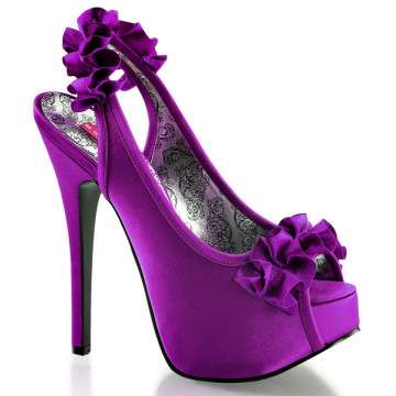Bordello TEEZE-56 Purple Satin