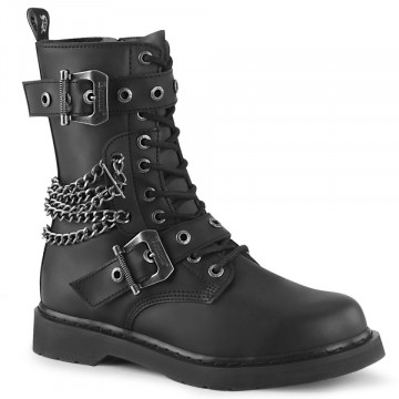 Demonia BOLT-250 Blk Vegan Leather