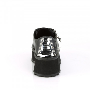 Demonia GRAVEDIGGER-04 Blk Vegan Leather