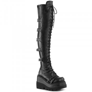 Demonia SHAKER-350 Blk Veagn Leather-Stretch