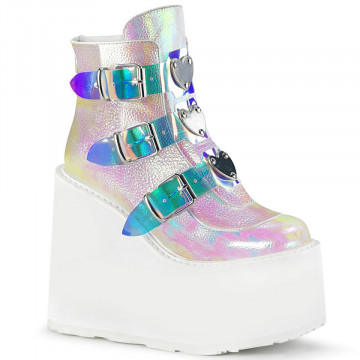 Demonia SWING-105 Pearl Iridescent Vegan Leather