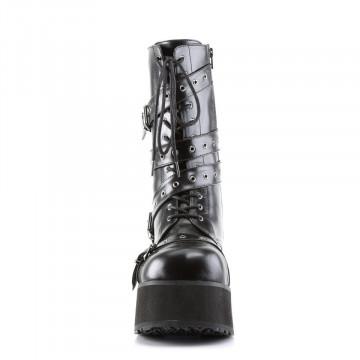 Demonia TRASHVILLE-205 Blk Vegan Leather