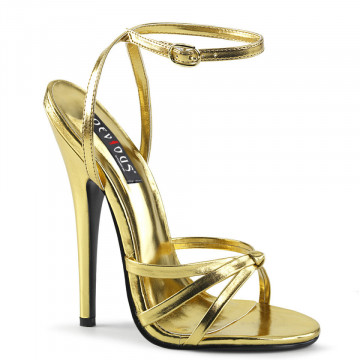 Devious DOMINA-108 Gold Metallic Pu