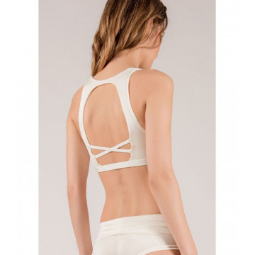 MADEMOISELLE SPIN - TOP PIGALLE Bianco