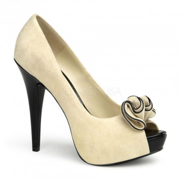 Pin Up Couture LOLITA-10 Beige Suede Pu