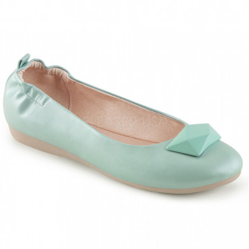 Pin Up Couture OLIVE-08 Aqua Faux Leather