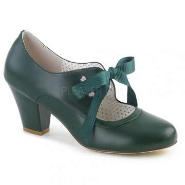 Pin Up Couture WIGGLE-32 Dark Green Faux Leather