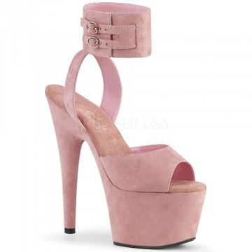 Pleaser ADORE-791FS B. Pink Faux Suede/B. Pink Fau
