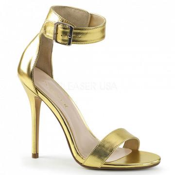 Pleaser AMUSE-10 Gold Mat. Pu