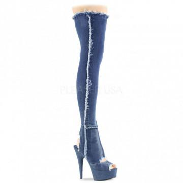 Pleaser DELIGHT-3030 Denim Blue Str Fabric