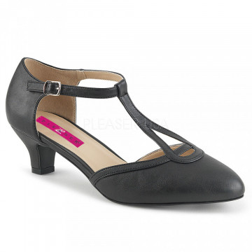 Pleaser Pink Label FAB-428 Blk Faux Leather