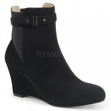 Pleaser Pink Label KIMBERLY-102 Blk Nubuck Suede