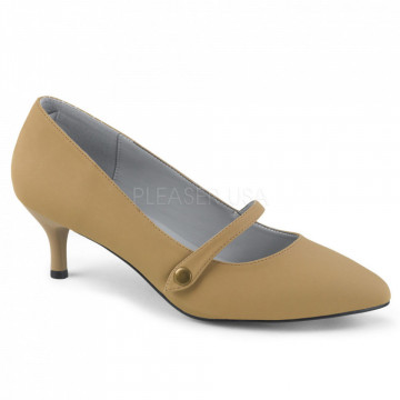 Pleaser Pink Label KITTEN-03 Taupe Nubuck