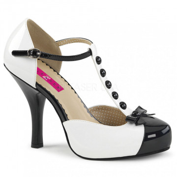 Pleaser Pink Label PINUP-02 Blk-Wht Pat