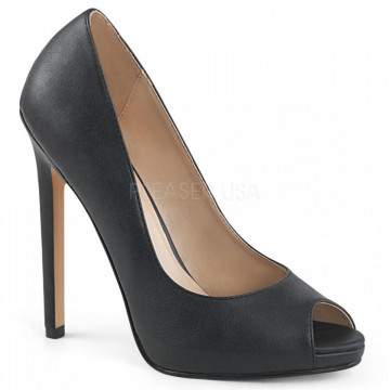 Pleaser SEXY-42 Blk Faux Leather