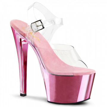 Pleaser SKY-308 Clr/B. Pink Chrome