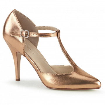 Pleaser VANITY-415 Rose Gold Metallic Pu